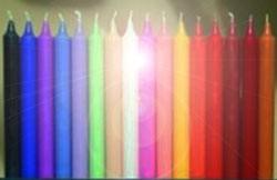 Los colores de las velas