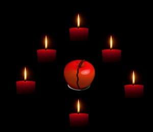 Hechizo con dos manzanas rojas