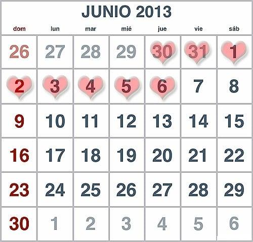 Horoscopo del amor del 30 de mayo al 6 de junio del 2013