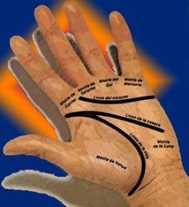 Las líneas de la mano en el amor