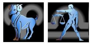 Compatibilidad del signo de Aries con Libra