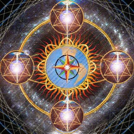 Los ángeles de los cuatro puntos cardinales