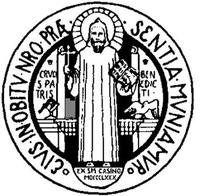 Medalla contra los demonios:frente de la medalla de San Benito