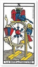 """Significado del arcano mayor """"La rueda de la fortuna"""""""