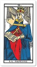 """Significado del arcano mayor """"La sacerdotisa"""" o """"La Papisa"""""""