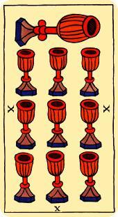 Diez de copas en el Tarot – Arcano menor