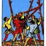 Significado del cinco de bastos – arcano menor