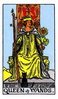 Significado de la reina de bastos-arcano menor