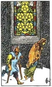 Significado del cinco de oros -arcano menor