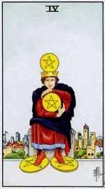 Significado del cuatro de oros-arcano menor