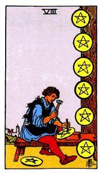 Significado del ocho de oros-arcano menor