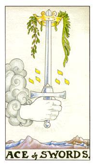 Significado del As de espadas-arcano menor