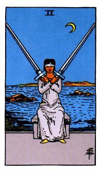 Significado del dos de espadas-arcano menor
