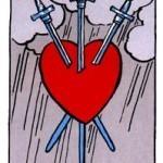 Significado del tres de espadas-arcano menor