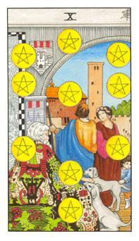 Significado del diez de oros-arcano menor
