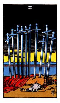 Significado del 10 de espadas-arcano menor