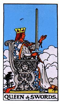 Significado de la reina de espadas- arcano menor