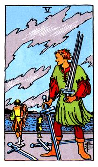 Significado del 5 de espadas-arcano menor