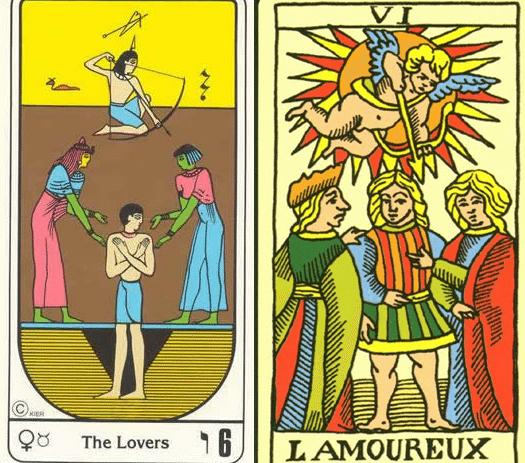 Diferencia entre el Tarot egipcio y el Tarot de Marsella